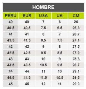 TeCuentoPeru-CAT HOMBRE -Tallas Peru-EU-UE