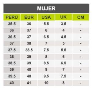 TeCuentoPeru-NATURALIZER MUJER-Tallas Peru-EU-UE