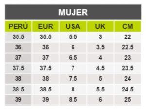 TeCuentoPeru-PUMA MUJER -Tallas Peru-EU-UE