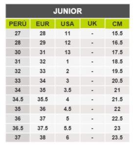 TeCuentoPeru-UMBRO JUNIOR -Tallas Peru-EU-UE